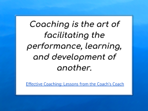 What Makes an Effective Coach?